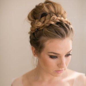 High bun with braids