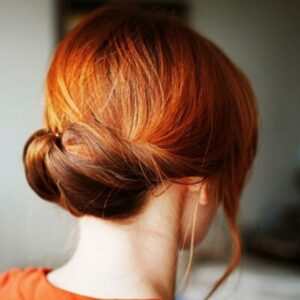 Tucked up hairstyle