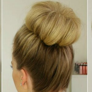 Top Knot easy bun hairstyles
