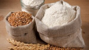 Processed white and wheat flours