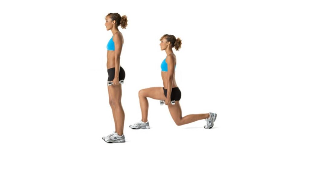 Reverse Dumbbell Lunges