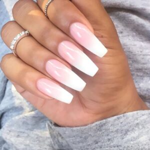 Pink and White Ombre