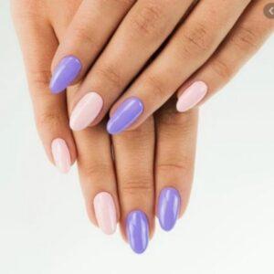 Light Pink and Purple Nail