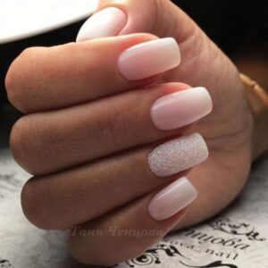 Pale pink nails