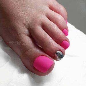Matte neon pink design