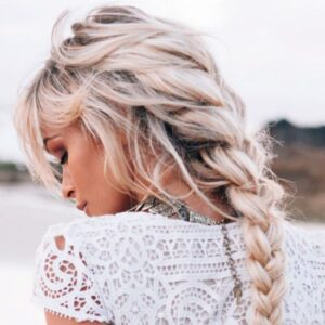 Simple Messy Braid Ponytail