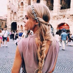 Ponytail Hairstyle with Headband