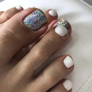 White toe nails