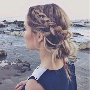 Beautiful Messy Bun With Braid