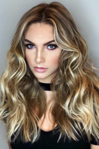 Brunette with Dirty Blonde Ends