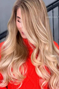 Sandy blonde hair (With highlights)
