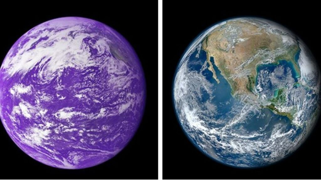 In the past, Earth could've been violet
