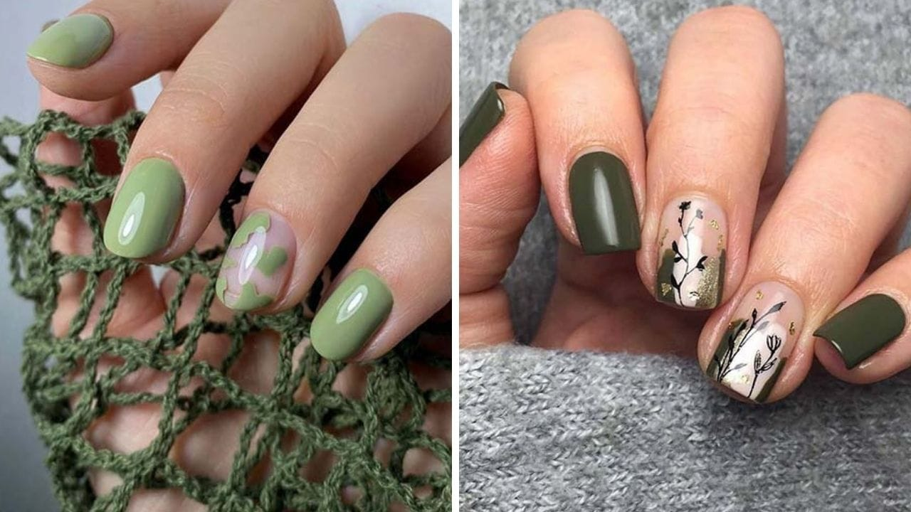20 Olive Green Nails You Should Try This Fall