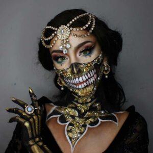 Glitzy skull illusion