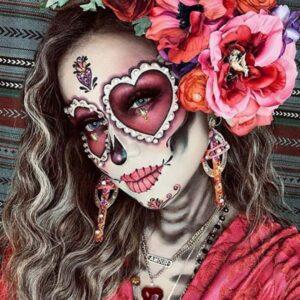 Bold sugar skull look