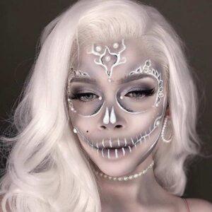 Ghostly white skull