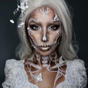 White skull makeup