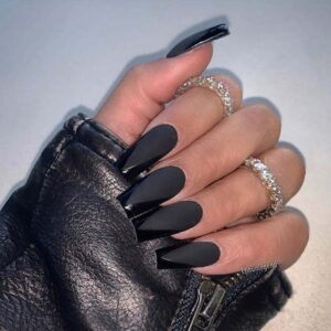 Black with Glossy Tips