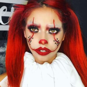 Scary Makeup with Stitches